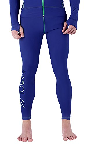Men Wetsuit Pants Athletic Base Layer Tights for Water Sport Snorkeling Fish Diving Surfing Canoeing L by SABOLAY
