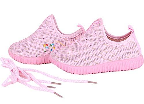 DADAWEN ,  Unisex Kinder Sneaker Low-Tops Rose