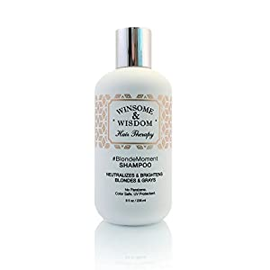 5. BlondeMoment Purple Shampoo for Blonde Hair Highlights by Winsome & Wisdom