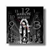Art time production Marilyn Manson 11.8'' Handmade Unique Wall Clock – Get Unique décor for Home or Office – Best Gift Ideas for Kids, Friends, Parents