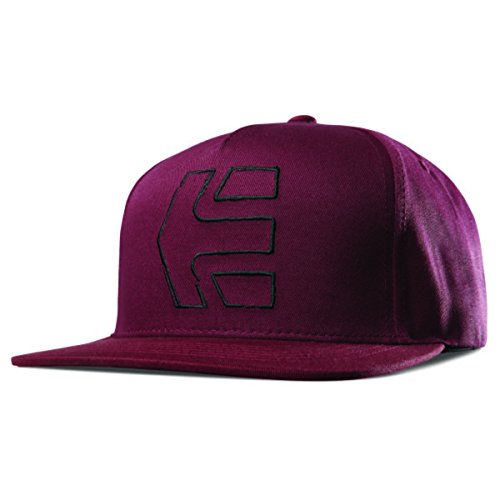 Etnies Men's Sketch Icon Snapback Hats,One Size,Burgundy - Etnies Mens Beanie