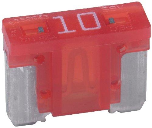 - Bussmann BP/ATM-10LP-RP 10 Amp Low Profile ATM Blade Fuse, 5 Pack