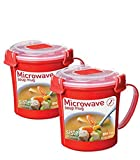 vented soup mug - Sistema 656 ml Soup Mug, Colors may vary, 2 Pack