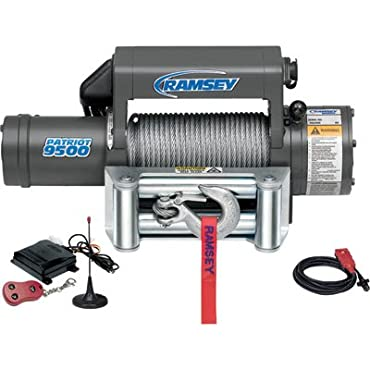 Ramsey Patriot 12-Volt Front-Mount Winch with Wireless Remote with 9500-Pound Capacity