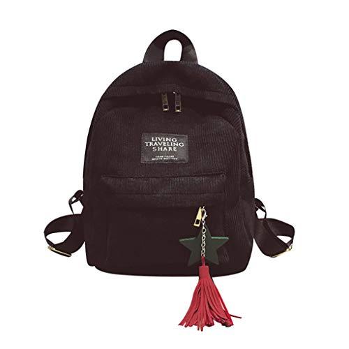 Swyss School Backpack,Unisex Classic Lightweight Corduroy Backpack for Men Women College Schoolbag Large Capacity Travel Bookbag,Black
