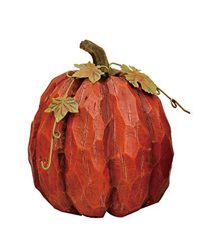 Transpac Imports D1062 Medium Resin Pumpkin Figurine, Orange ()
