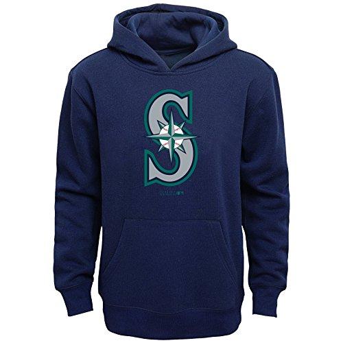 MLB Seattle Mariners Boys Primary Logo Fleece Hoodie, Athletic Navy, Size 10/12 – DiZiSports Store