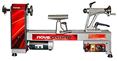 NOVA 46300 Comet II Variable Speed Mini Lathe 2013 Edition, 12-Inch x 16 1/2-Inch, Silver