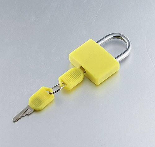 Distinct® 2ST Reise Tiny Koffer Schloss Schubladenschrank Toolbox Padlock Gym Schließfächer Keys (Gelb)