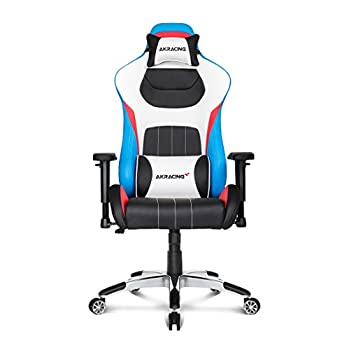 Image of AKRacing Premium Series Luxury Gaming Chair with High Backrest, Recliner, Swivel, Tilt, Rocker and Seat Height Adjustment Mechanisms with 5/10 warranty (Tri Color) Video Game Chairs