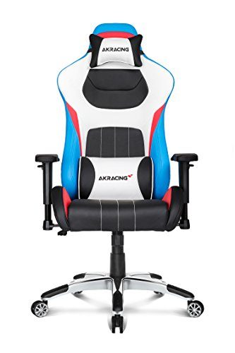 Height Adjustment Mechanism - AKRacing Premium Series Luxury Gaming Chair with High Backrest, Recliner, Swivel, Tilt, Rocker and Seat Height Adjustment Mechanisms with 5/10 warranty (Tri Color)