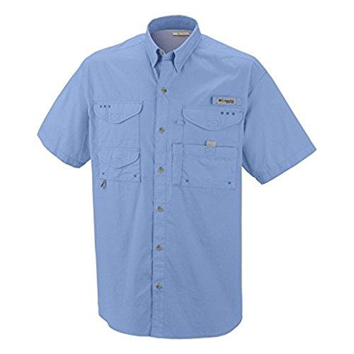 Columbia Men's Bonehead Short-Sleeve Work Shirt, Light Blue, 3XL