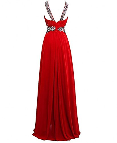 Dannifore Halter Hi-Lo Chiffon Evening Ball Gown Beaded Bridesmaid Prom Dresses Long at Amazon Womens Clothing store: