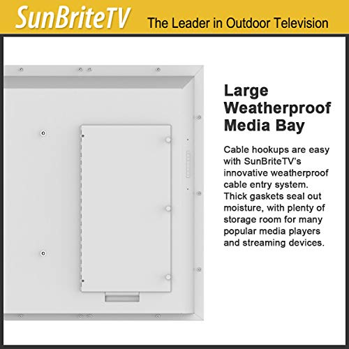 SunBrite 65-Inch Outdoor Television 4K with HDR - Signature 2 Series - for Partial Sun SB-S2-65-4K-WH (65-inch, White)