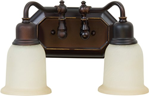 Craftmade 15813OBG2 Heritage 2 Light Vanity Incandescent, Oil Rubbed Gilded