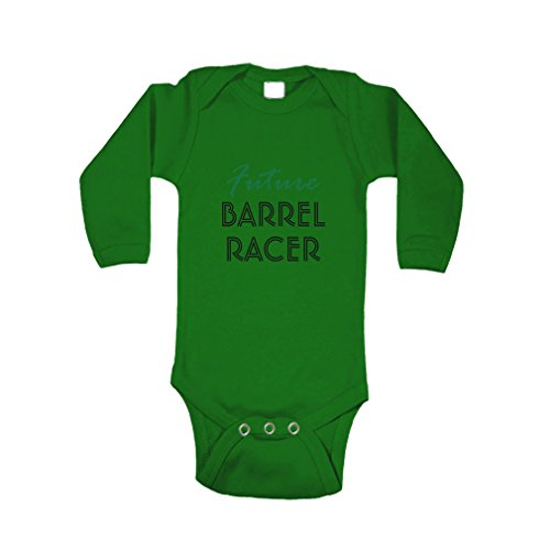 Green Barrel Body - Cute Rascals Future Barrel Racer Sport Baby Combed Ring-Spun Cotton Bodysuit One Piece - Kelly Green, 6 Months