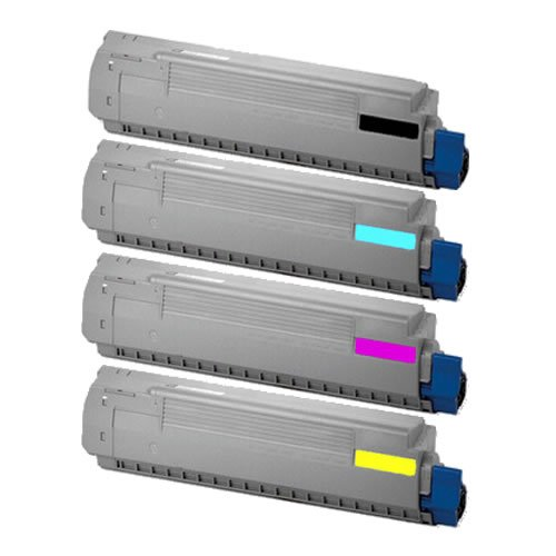 Compatible Oki Type (Do it Wiser Compatible Toner Cartridge Set Black Cyan Magenta Yellow for Okidata Oki C830 C830N C830D C830DN C830DTN C810N Type C14 - 44059109 44059110 44059111 44059112 - Yield 8,000 Pages))