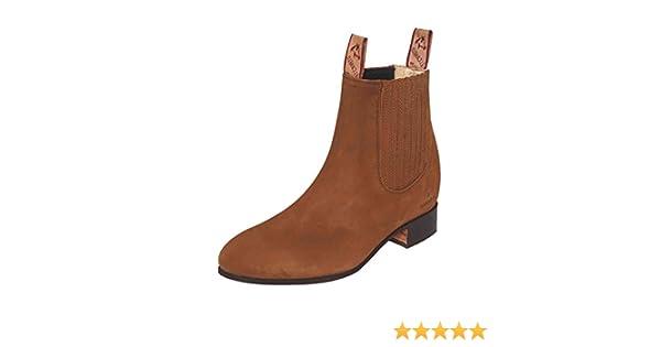 Amazon.com | EL CANELO Botin Charro/a ID 231 (Bc) Piel Nobuck Topo | Western