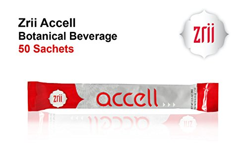 50 Sachets x Zrii Accell Botanical Beverage Siberian Ginseng And Beetroot With Green Tea