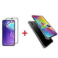 Classico Samsung Galaxy M20, Tempered Glass & Back Cover, [Combo [Bumper] Premium Real 2.5D 9H Anti-Fingerprints & Oil Stains Coating Hardness Screen Protector Guard for Samsung Galaxy- M20