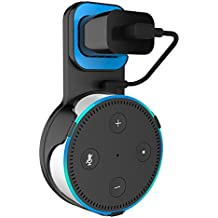 SPORTLINK Outlet Wall Mount Hanger Stand Holder for Amazon Echo Dot 2nd Generation Without Mess Wires Or Screws in Kitchens, Bathroom And Bedroom(Black)