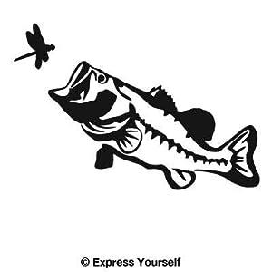 Big mouth largemouth bass black image for Free fishing decals