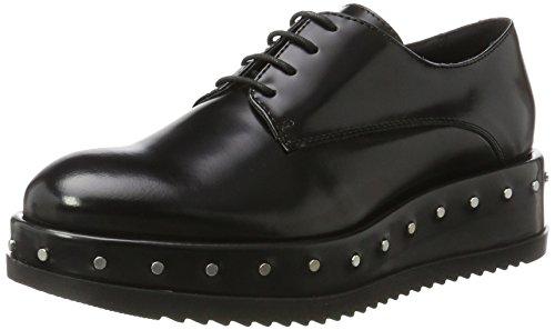 BLU Cordones Nero Tosca Mujer Zapatos C99 de Negro Derby Civetta para qaqwIdP