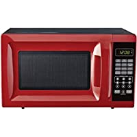 0.7-Cubic Foot Red Child-Safe Lockout Feature 10 Power Levels 6 Quick-Set Menu Buttons LED Display Microwave Oven