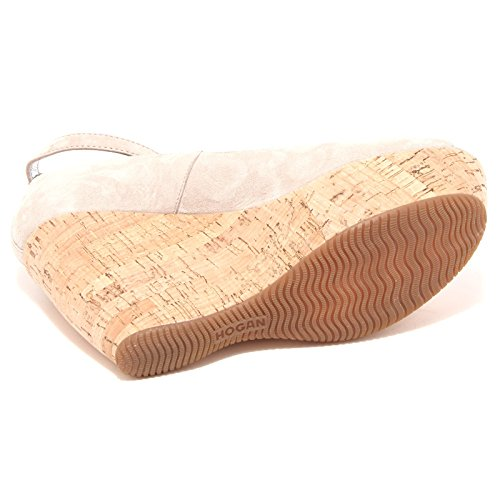 decollete HOGAN ZEPPA SPUNTATA H 200 scarpa donna shoes women 56927 tortora