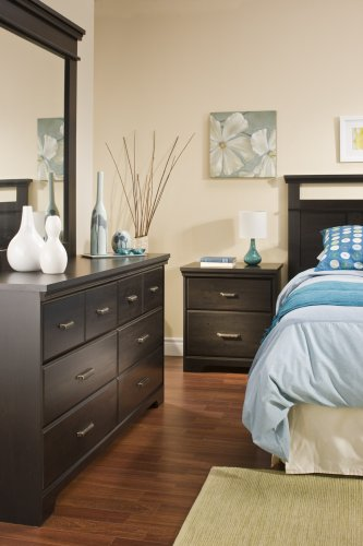 South Shore Versa 6-Drawer Double Dresser, Ebony