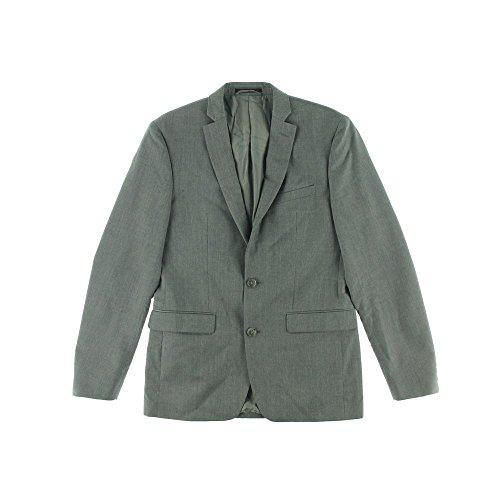 Bar III Extra Slim Gray Textured Two Button Wool New Men's Blazer (38 Regular) (2 Button Signature New)