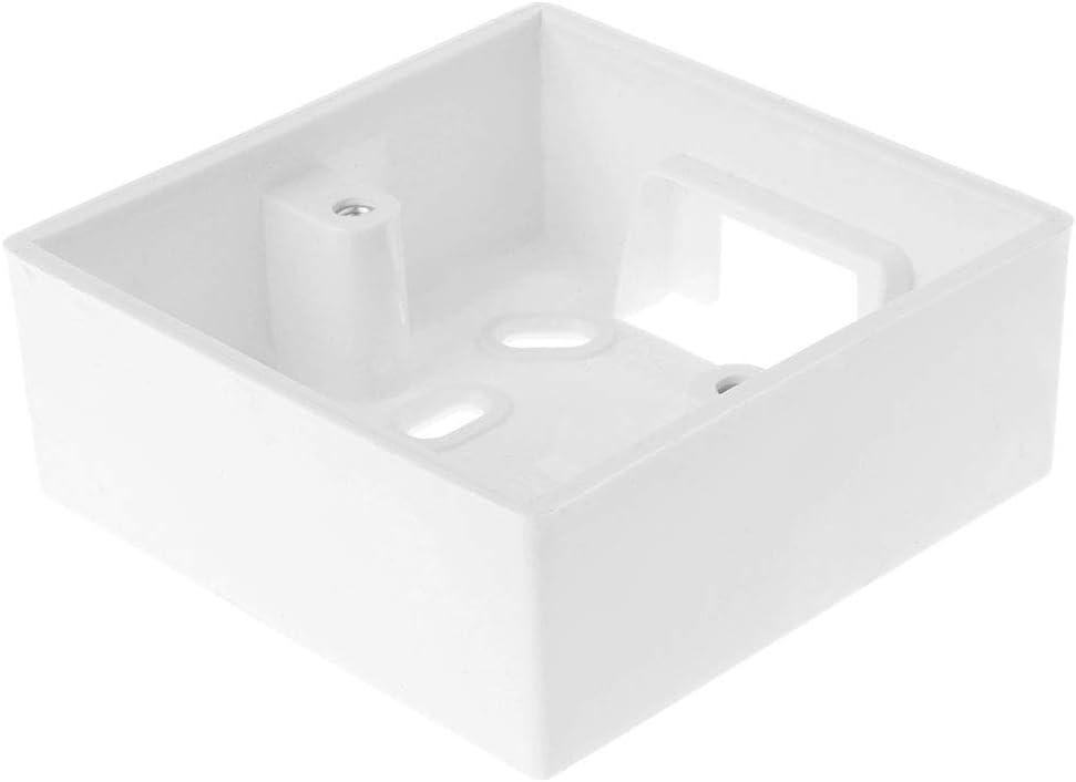 BASSK Caja de conexi/ón de 86 x 86 mm en la pared para caja de control de temperatura del termostato