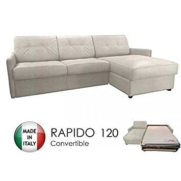ITALIAN SPIRIT Canapé d angle réversible Ouverture RAPIDO Cube 120 cm +  Coffre. Tissu 5bfae99e6050