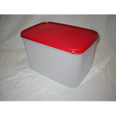 Tupperware Modular Mates Rectangular 3 Container. Red Seal
