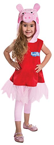 UHC Girl's Peppa Pig Outfit Funny Theme Party Toddler Halloween Animal Costume, Toddler (3-4T)