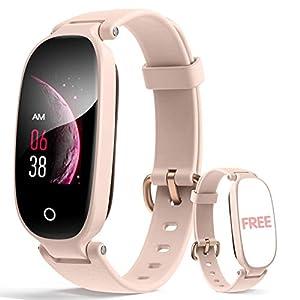 Hommie Montre Connectée Femme,Tracker d'Activité Cardio Fréquence Montre Intelligente Etanche IP67 Smartwatch Sport avec…