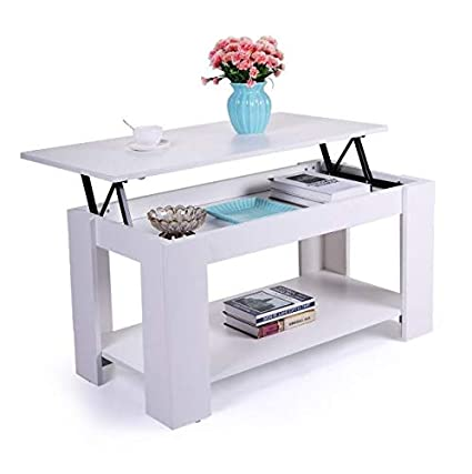 amazon com cypressshop white coffee table couch side talbe lift top