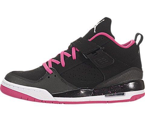 nike air jordan flight 45 GG hi top trainers 644874 sneakers shoes (uk 3.5 us 4Y eu 36, black white vivid pink 009)