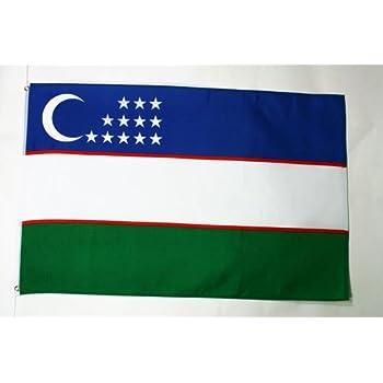 Amazon com : Uzbekistan Flag Polyester 3 ft  x 5 ft
