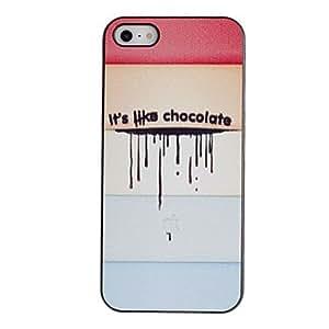 CECT STOCK Melting Ice Cream caso del patrón de la PC dura con Negro Marco para el iPhone 5/5S