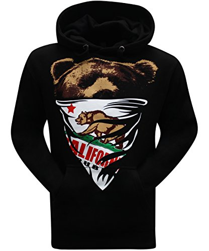 Bear Black Hooded Sweatshirt - 4