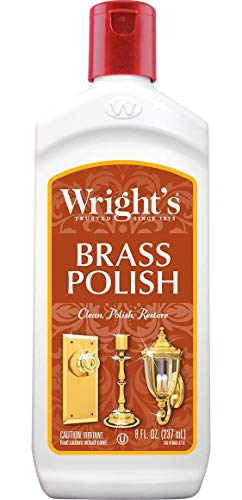 Wright's Brass and Copper Polish and Cleaner - 8 Ounce - Gently Cleans and Removes Tarnish Without Scratching ()
