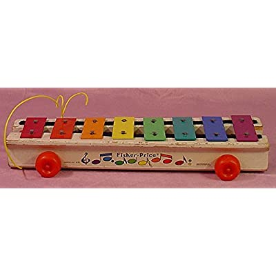 Fisher-Price Vintage 1978 Pull-a-Tune Xylophone - Made in The USA !: Toys & Games