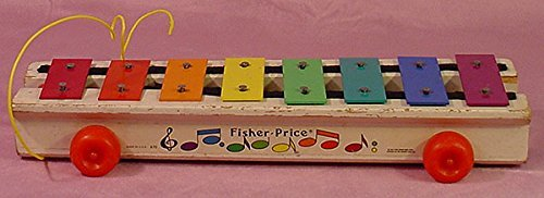 (Vintage 1978 Fisher - Price Pull-a-Tune Xylophone - Made in the USA !)