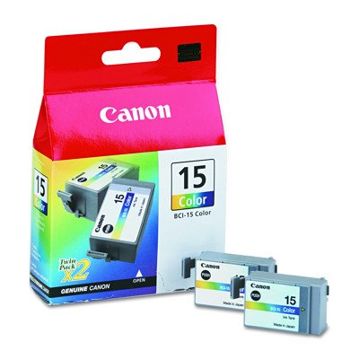 Canon (BCI-15) Ink Tank with 130 Page-Yield - 2 per Pack (Tricolor)