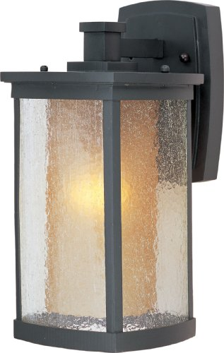 galow 1-Light Wall Lantern, Bronze Finish, Seedy/Wilshire Glass, MB Incandescent Incandescent Bulb , 60W Max., Dry Safety Rating, Standard Dimmable, Glass Shade Material, Rated Lumens ()
