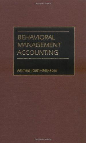 Behavioral Management Accounting Pdf