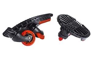 Hudora 12000 Skatesystem Twin-Skate - Accesorio de skate, color negro y rojo