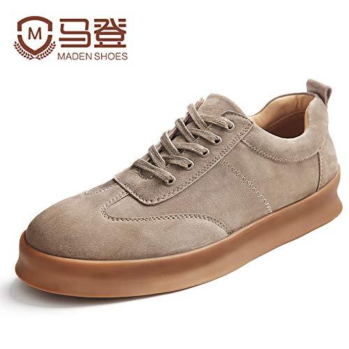 EAOJRSCSA Freizeitschuhe Herrenschuhe Herbst und Winter Schuhe Herren Herren Herren Trend Wild Herrenschuhe Schuhe Flut Schuhe, 43, Sand 3008e4
