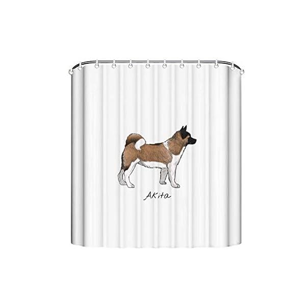 "FabricMCC Shower Curtain, Bath Curtain 71"" x 79"" Akita, Surreal Bathroom Decor 3"